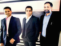 (From left) Shantanu Rooj, Anil Bhat and Ravi Rangan, Co-founders, SchoolGuru