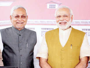 Prime Minister Narendra Modi on Saturday took everyone by surprise as he addressed Bihar chief minister Nitish Kumar as `mere mitra' (my friend).