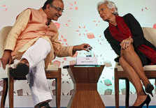 ​Arun Jaitley with Christine Lagarde