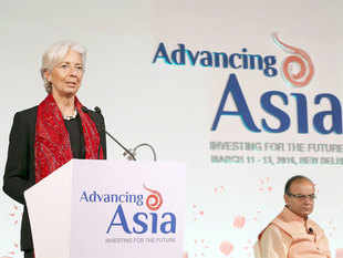 """It is clear to us that... (it is) Asia where growth is originating and going to come from India and in the years to come,"" IMF chief Christine Lagarde said."