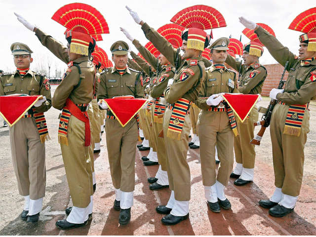 BSF recruits passing out parade takes place in Srinagar