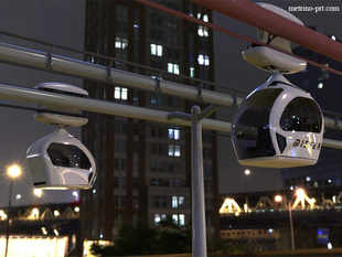 A project called the Metrino (in pic) -a PRT system in which pods are suspended from an overhead rail -has been under consideration for a while.