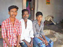 Family of Sankar, a Dalit youth hacked to death earlier this month.
