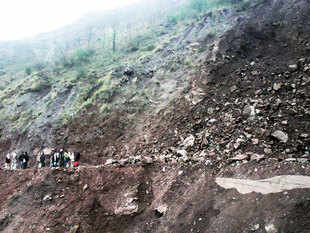 About 12.6 per cent of the total land mass of India falls under the landslide-prone hazardous zone, according to a study by the GSI.