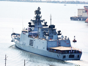 Guided missile stealth frigates INS Satpura and INS Sahyadri; INS Shakti, a sophisticated fleet support ship; and INS Kirch, a guided missile corvette, had set sail on Wednesday on a two-and-a-half month long operational deployment to the South China Sea and North West Pacific.