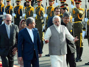 Prime Minister Narendra Modi arrived Tehran on Sunday on a two-day visit seeking to further cement Indo-Iranian ties and explore avenues to bolster trade in a big way in the wake of lifting of sanctions against Iran.