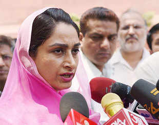 Give sops to multi-brand retailers investing 20% in agriculture  :   Harsimrat Kaur Badal, Union Minister for Food Processing Industries