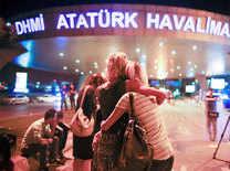 Twin suicide blasts rock Istanbul's Ataturk airport