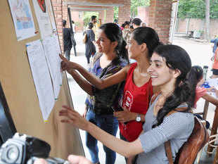 According to college officials, a large number of candidates from Tamil Nadu have been coming for admissions, mostly for B Com (H).