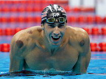 The 31-year-old athlete has racked up 26 Olympic medals, 22 of them gold and two each of silver and bronze.