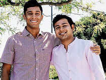 Vidit Aatrey (left) and Sanjeev Barnwal cofounders, Meesho.com, an ecommerce enabler on mobile