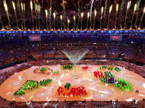 Fireworks at Rio closing ceremony