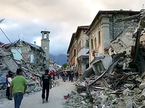 Center of Amatrice post earthquake