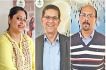 Fromleft- Gurveen Kaur Sood, Arun Nagpal and Manoj Khanna, Co-founders, Mrida Group.