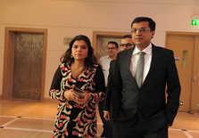 Sachin Bansal with his wife