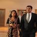 Sachin Bansal with his wife