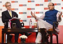 Arun Jaitley at The Economist summit