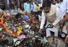 Ravi Shankar Prasad during a Swachh Bharat Abhiyaan