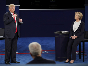"""Certainly I'm not proud of it. But this is locker room talk,"" Trump said when confronted by the moderator at the outset of the second presidential debate about the comments caught on a hot mic."