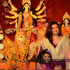 Sushmita Sen with her daughters at Durga Puja