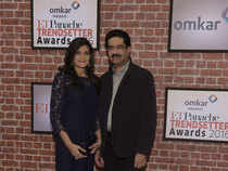 Kumaramangalam Birla along with wife Neerja Birla at the ETPanache Trendsetter Awards.