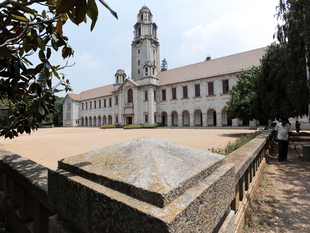 Front view of the main building of Indian Institute of Science (IISc) in Bangalore.(File Photo)