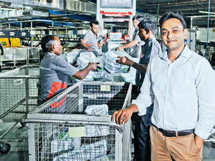 Vineet Baid, founder of Falcon, an industrial automation solution company, comes into the picture once the goods reach the origin hub.