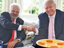 "Chicago-based Indian American businessman Shalabh ""Shalli"" Kumar with Donald Trump"