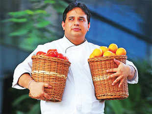 Chef Mayur not only handpicks his herbs from the farms and their own home grown produce he also takes chefs from his team to the farms they use ingredients from.