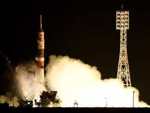 """Communication was lost today 383 seconds after the launch of the Soyuz-U carrier rocket with the cargo ship Progress MS-04,"" space agency Roscosmos said."