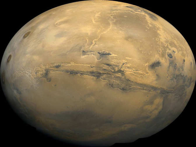 Liquid water carved deep canyons on Mars