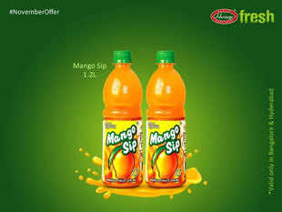 For the year ended March 31, 2016, the MangoSip reported sales of Rs 557 crore becoming the country's fourth largest selling mango drink.