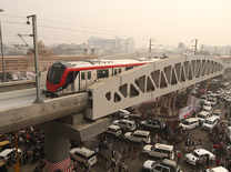 Looking sleek and chic, Lucknow Metro takes a trial run
