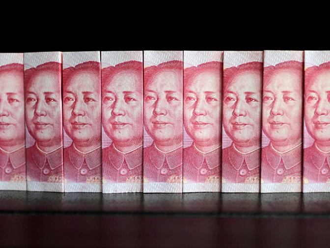 China's offshore yuan rises sharply to near 2-month high as funding costs spike