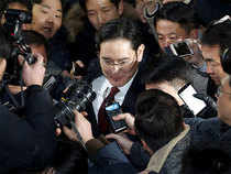 """The tall, bespectacled 48-year old did not look visibly affected by the session, in which he was questioned by two prosecutors, including one nicknamed the """"Chaebol Sniper""""."""