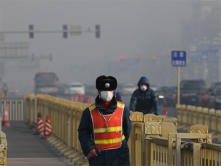 Of the 338 cities monitored by the ministry, 7.1 per cent, including Shijiazhuang the capital city of Hebei Province, which neighbours Beijing, reported serious air pollution, with air quality index (AQI) readings exceeding 300 as of today.