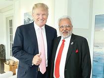 US President Donald Trump with RHC's Shalabh Kumar