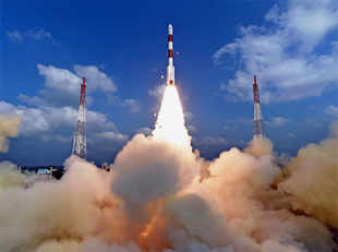 "The 88 Dove satellites (collectively known as ""Flock 3p"") rode aboard a PSLV rocket from the Satish Dhawan Space Centre in Sriharikota, India."