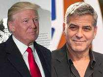 "George Clooney (right) has criticised President Donald Trump (left) and his chief strategist, Steve Bannon, calling them ""Hollywood elitists""."