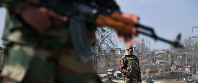 Three soldiers martyred and five more injured in Shopian militant attack