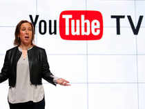 YouTube CEO Susan Wojicki speaks during the introduction of YouTube TV at YouTube Space LA in Los Angeles.