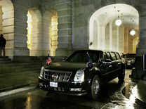 Meet the 'Beast': Donald Trump's new bomb-proof car that carries guns and President's blood