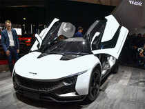 """Tata Motors showcased """"Tamo Racemo"""", India's first connected sports car, at the Geneva International Motor Show on March 10."""