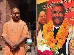 Both the chief ministers, who command massive three-fourths majority in their respective state assemblies, have another similarity. They are bachelors.