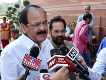 """""""It is the legislators under the Parliamentary party board that decide the leader. That is the system in the BJP. RSS never interferes or suggests any names (for the chief minister's post),"""" Naidu told PTI."""