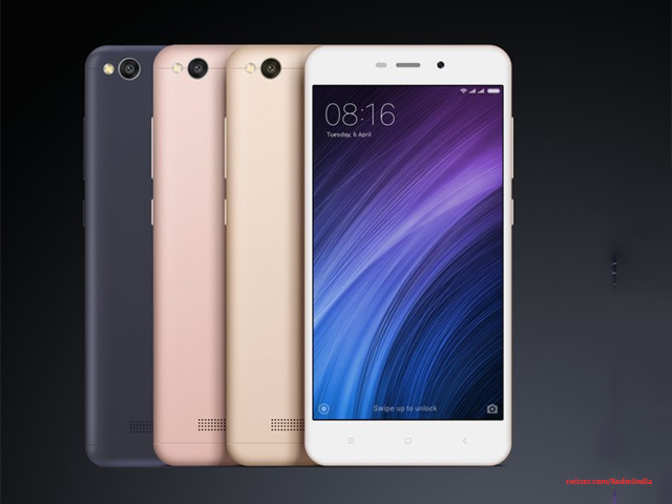 Xiaomi Launches Its Cheapest Smartphone Redmi 4a In India
