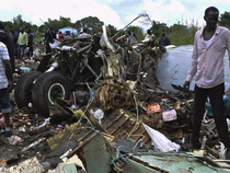 """""""There were 40 passengers and five crew (on board) that is all. I don't have any information,"""" said Gabriel Ngang, the manager of South Supreme Airlines."""