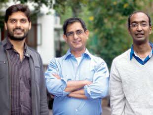 The cofounders of ten3T - (from left) Rahul Shingrani, Sudhir Borgonha and Manish Singhal.