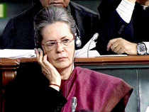 This was Sonia's first public appearance after BJP's massive victory in UP and Uttarakhand.