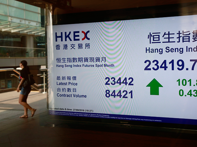 Hong Kong shares end slightly higher, aided by Tencent, banking shares